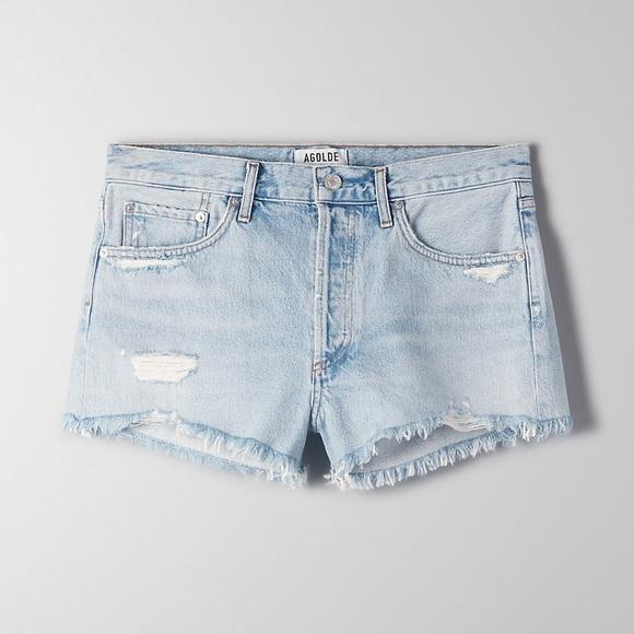 Agolde Pants - AGOLDE Parker Cutoff Denim shorts